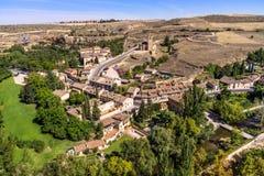 Pase por alto el pueblo de Segovia, España fotografía de archivo libre de regalías
