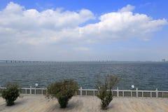 Pase por alto el puente del jimei Fotos de archivo