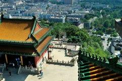 Pase por alto Nanjing Lion Mountain Scenic Area Fotografía de archivo libre de regalías