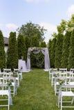 Pase a un arco de la boda Fotos de archivo libres de regalías