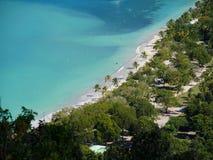 Pasek Magens zatoka, odgórny widok, St Thomas, USA Dziewicze wyspy Zdjęcia Stock