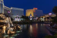 Pasek przy nocą w Las Vegas, NV na Czerwu 05, 2013 Zdjęcie Stock