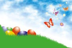 Pasen-achtergrond Stock Afbeeldingen