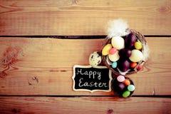 Pasen-achtergrond met chocolade Royalty-vrije Stock Foto's