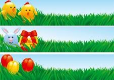 Pasen-Banners Royalty-vrije Stock Afbeeldingen