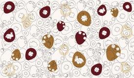 Pasen-bruin Patroon vector illustratie