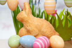 Pasen Bunny Cake Stock Afbeelding