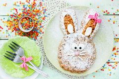 Pasen Bunny Cake Stock Foto
