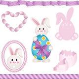 Pasen Bunny Digital Elements stock illustratie