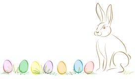Pasen Bunny Easter Eggs vector illustratie