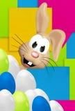 Pasen Bunny Easter Eggs Festive Elements stock illustratie