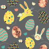 Pasen Bunny Egg Repeat Pattern Stock Afbeeldingen