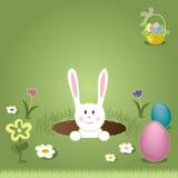 Pasen Bunny Peaking Out van Gat Royalty-vrije Stock Afbeeldingen