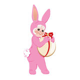 Pasen Bunny Pink Royalty-vrije Stock Fotografie