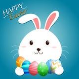 Pasen Bunny Vector Royalty-vrije Stock Afbeelding