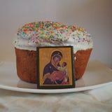 Pasen-Cakepictogram Jesus en Mary Royalty-vrije Stock Afbeeldingen