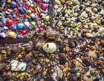 Pasen-Chocoladeexplosie royalty-vrije stock fotografie