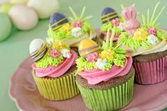 Pasen cupcakes Stock Afbeeldingen