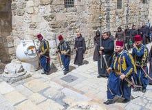 Pasen in de kerk van heilig begraaft in Jeruzalem Stock Afbeeldingen