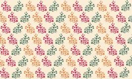 Pasen-de Rode groene Sinaasappel van het konijnpatroon stock illustratie
