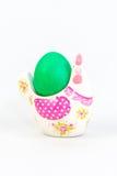 Pasen-decoratie met een groen ei Royalty-vrije Stock Fotografie