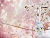 Pasen-decoratie met kersenbloesem royalty-vrije stock foto