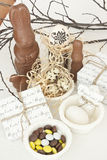Pasen-desserts Stock Foto's