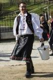 Pasen die in Holloko, Nograd, Hongarije bestrooien royalty-vrije stock foto's