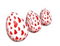 Pasen drie eieren Stock Foto