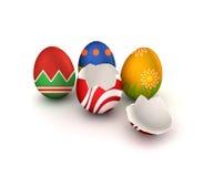 Pasen Eggs_bunch Stock Afbeeldingen