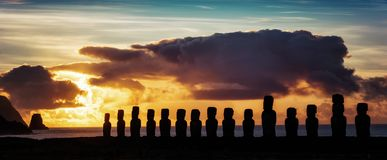 Pasen-Eilanden Moai royalty-vrije stock afbeelding