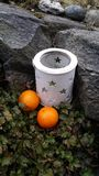 Pasen en sinaasappelen Stock Afbeeldingen