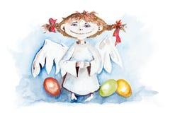 Pasen-engel stock illustratie