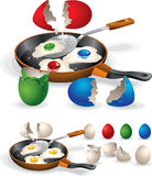 Pasen Fried Eggs Stock Illustratie
