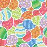 Pasen gekleurd eierenbehang royalty-vrije illustratie