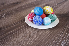 Pasen gekleurde eieren Royalty-vrije Stock Foto's