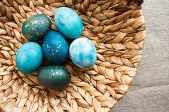 Pasen gekleurde eieren royalty-vrije stock foto