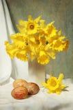 Pasen-gele narcissen Stock Afbeeldingen