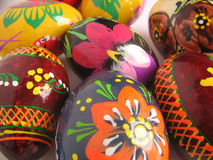 Pasen geschilderd ei als achtergrond Royalty-vrije Stock Afbeeldingen