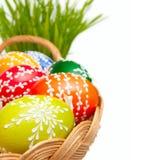Pasen Geschilderde Eieren Stock Afbeeldingen