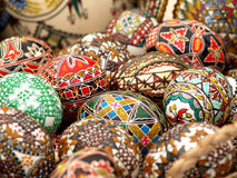 Pasen Geschilderde Eieren Stock Afbeelding
