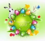 Pasen-groetkaart 2017 vector illustratie