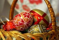 Pasen-hand - gemaakte verfraaide eieren Royalty-vrije Stock Fotografie