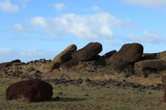 Pasen-het Standbeeld van Eilandmoai Stock Foto