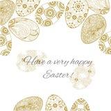 Pasen-kaart met eieren Royalty-vrije Stock Afbeeldingen