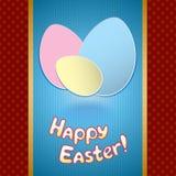 Pasen-kaart met eieren voor groet vector illustratie