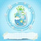 Pasen-kaart met paasei en exemplaarruimte Royalty-vrije Stock Afbeeldingen