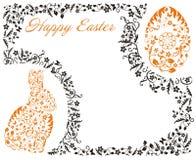 Pasen-kader met konijntje Royalty-vrije Stock Afbeelding