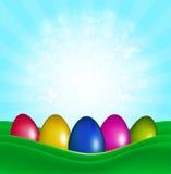 Pasen-Kleureneieren Stock Afbeeldingen