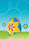 Pasen - Kleurrijk paasei Stock Afbeeldingen